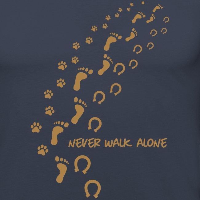 Vorschau: never walk alone hund pferd - Männer Slim Fit T-Shirt