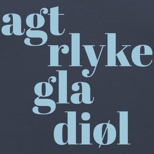 Achterlijke gladiool - Mannen slim fit T-shirt