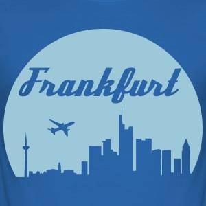 skyline van Frankfurt - slim fit T-shirt