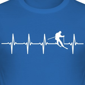 Ski - Heartbeat Scene - Slim Fit T-skjorte for menn