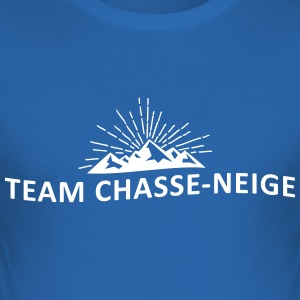 Team chasse-neige - Tee shirt près du corps Homme