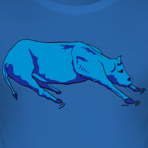 Cute Cow Design Vector børn - Herre Slim Fit T-Shirt