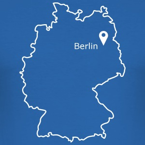 sted at være: Berlin - Herre Slim Fit T-Shirt