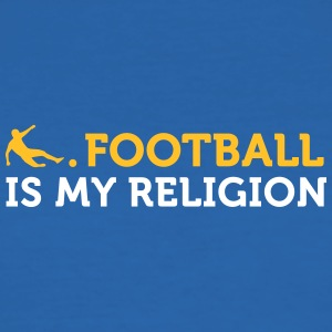 Citations du football: le football est ma religion - Tee shirt près du corps Homme