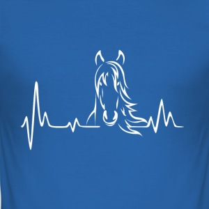 Heartbeat frequentie paarden - slim fit T-shirt