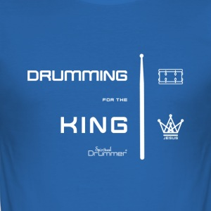 Drumming for the King Blanc - Tee shirt près du corps Homme