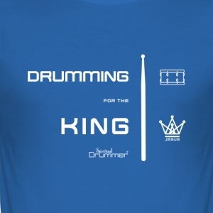 Drumming for the King White - Tee shirt près du corps Homme