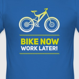 bike bicycle MTB neon saying wheel racing bmx bike - Men's Slim Fit T-Shirt