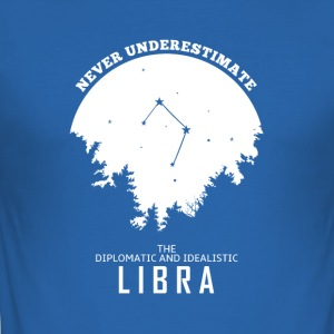 Libra Horoscope Zodiac Gift - Men's Slim Fit T-Shirt