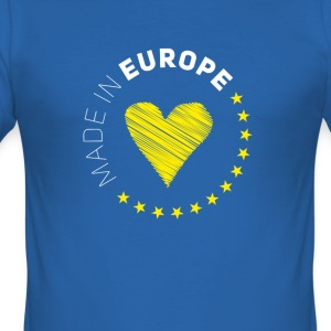 made in Europe love EU europa no brexit euro stern - Männer Slim Fit T-Shirt