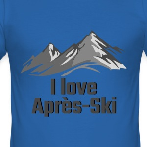 I love apres ski - Men's Slim Fit T-Shirt