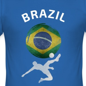 Brasil Football Goal kul sport flagg teamet moro - Slim Fit T-skjorte for menn