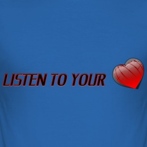 Listen To Your Heart - Slim Fit T-shirt herr