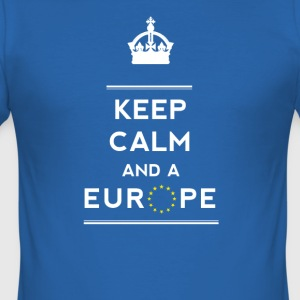 keep calm and Love Europe eu Europastar fun demo - Men's Slim Fit T-Shirt