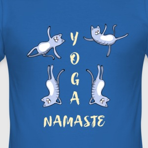 yoga kat leuk namaste meditatie lotus LOL h - slim fit T-shirt