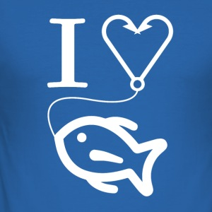 I love fishing !! - Men's Slim Fit T-Shirt