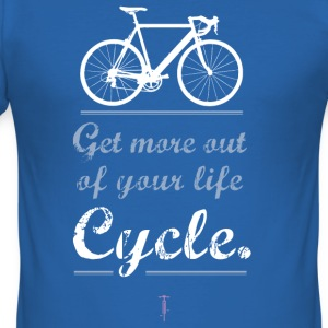 Cykel motivation Sportbike väg mountainbike BMX mer - Slim Fit T-shirt herr