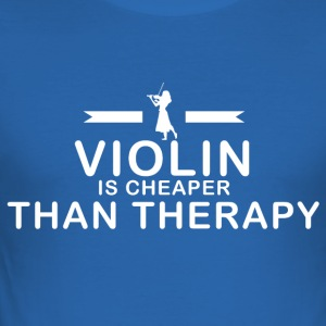 Violin is cheaper than therapy - Men's Slim Fit T-Shirt