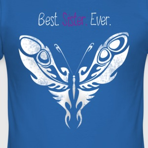 butterfly_sister bedste Butterfly Big Sister - Herre Slim Fit T-Shirt