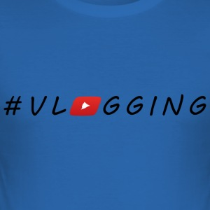 YouTube #Vlogging - Tee shirt près du corps Homme