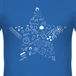 nerd star pi Physics Math Symbols Icon fu - Men's Slim Fit T-Shirt