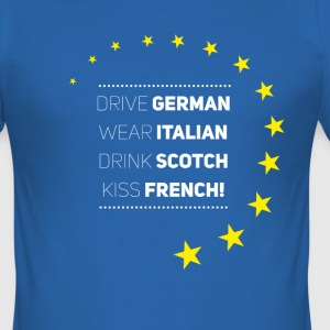 Be Europe Italy Germany frank Love eu stars - Men's Slim Fit T-Shirt