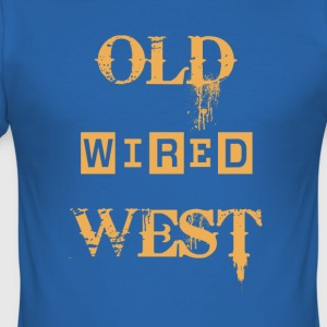 Old wired west - Men's Slim Fit T-Shirt