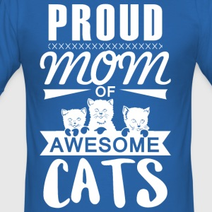 Proud mother cat - Men's Slim Fit T-Shirt