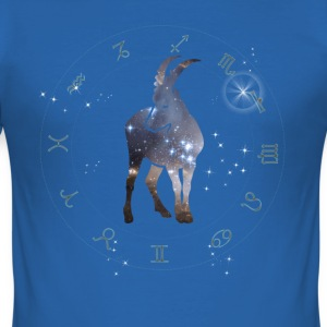univers capricorne constellation astrologie sternzeic - Tee shirt près du corps Homme