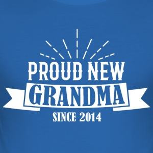 Proud Grandma 2014 Gift - Men's Slim Fit T-Shirt