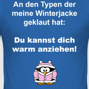 pinguin_winterjacke_ - Männer Slim Fit T-Shirt