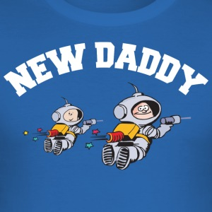 New Daddy (PERSONALIZE ADD DATE YEAR) - Men's Slim Fit T-Shirt