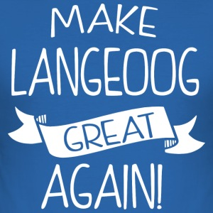 Make Langeoog great again - Men's Slim Fit T-Shirt