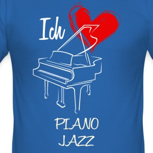 Elsker Piano Jazz - Slim Fit T-skjorte for menn