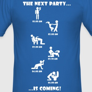 The Next Party is coming. - Männer Slim Fit T-Shirt