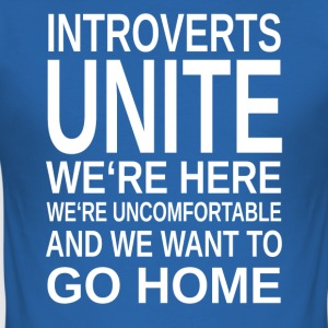 ++ ++ Introverte Unite - Herre Slim Fit T-Shirt