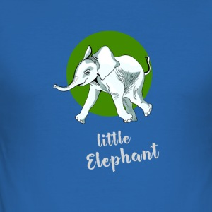 little_elefant baby cute mascot friend ju - Men's Slim Fit T-Shirt