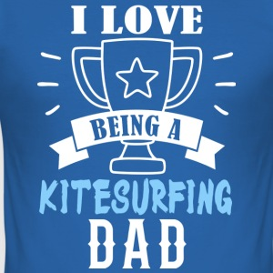 Kitesurfing Dad - Men's Slim Fit T-Shirt