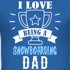 Snowboarding Dad - Men's Slim Fit T-Shirt
