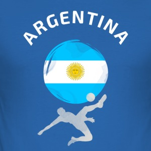 Argentinien Fußball Flagge cool Fun ball Tor Sport - Männer Slim Fit T-Shirt