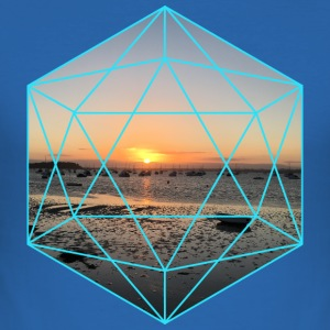 geometrisk Sunset - Slim Fit T-shirt herr