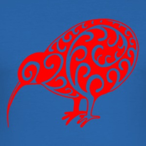 New Zealand: Kiwi in red - Men's Slim Fit T-Shirt