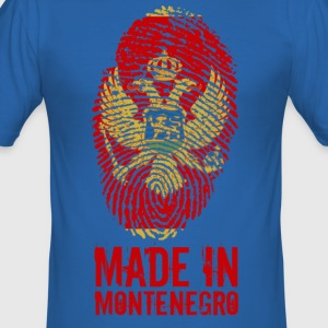Made in Montenegro / Gemacht in Montenegro - Männer Slim Fit T-Shirt