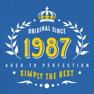 original since 1987 simply the best 30th birthday - Männer Slim Fit T-Shirt