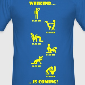 Weekend is coming - Männer Slim Fit T-Shirt