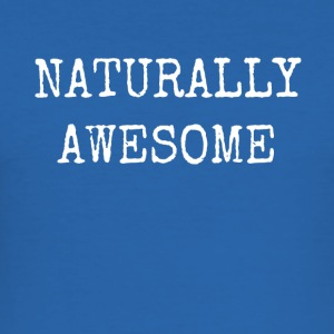 NATURLIG AWESOME - Slim Fit T-skjorte for menn