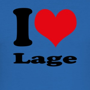 I love Lage - Männer Slim Fit T-Shirt