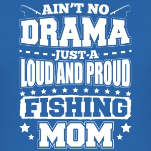 AINT NO DRAMA FISKE MOM - Slim Fit T-shirt herr