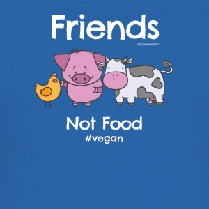 Friends Not Food TShirt for Vegans and Vegetarians - Men's Slim Fit T-Shirt