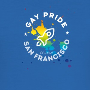 Gay San Francisco Pride Festival csd rakett injeksjon - Slim Fit T-skjorte for menn